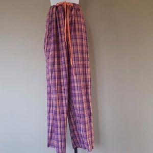Plus Size 1X Sleep Pants Tie Waist Falls Creek